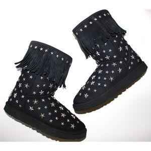 Ugg x Jimmy Choo Starlit Star Studded Fringe Boot
